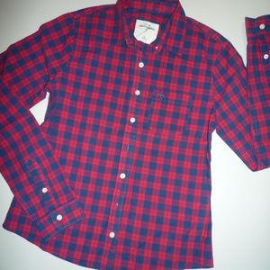 Abercrombie Kids Blue & Red Plaid LS Shirt, sz XL